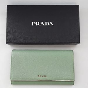 Prada 1MT440 Saffiano Wallet on removable chain.
